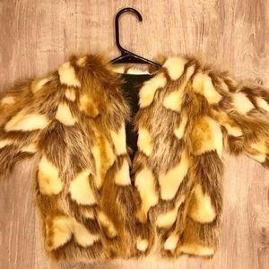 Caroline Bosmans faux fur Coat size 6/7